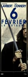 Christophe Lambert S Connery Highlander 2 The Quickening 1990 French Poster24x63