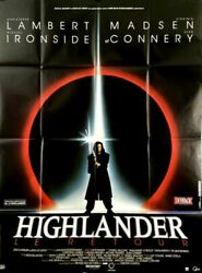Christophe Lambert S Connery Highlander 2 The Quickening 1990 French Poster47x63