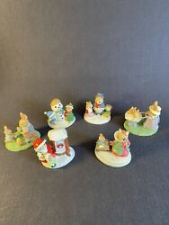 7 Avon Forest Friends Figurines Mice Bunny Rabbits Easter Fun,snowfall Friends +