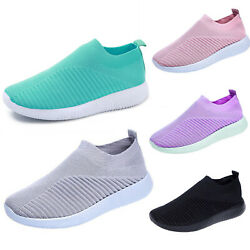 Ladies Slip On Running Sneakers Trainers Casual Tennis Walking Summer Shoes Size