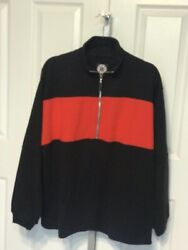 Marlboro Unlimited Gear Mens Medium 1/2 Zip Pullover Red And Black New With Tags