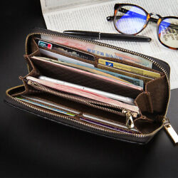 Men#x27;s Leather Wallet Credit ID Card Holder Large Capacity Purse Clutch Phone Bag $12.99