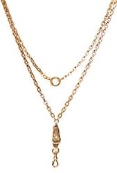 Antique • Victorian French 14k Yellow Gold Eagle Watch Chain Necklace