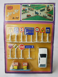 Rare Vintage 70's Joy Toy No 112 Scirocco + Street Signs Made In Greece New