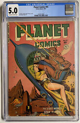 Planet Comics 65 Cgc 5.0 Ow/wh Pgs Fiction House 1951 Classic Cover