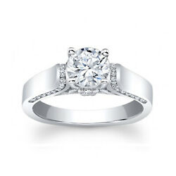 1.30 Ct Diamond Engagement Wedding Ring 925 Sterling Silver Rings Size 6.5 7 8 9