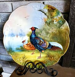 Exquisite 🥰😍 Rare French Limoges Large Platter Charger Plate Artist Signed