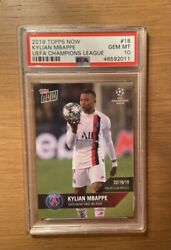 Kylian Mbappe 2019 Topps Now Champions League 100th Group Hat Trick /110 Psa 10