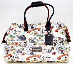 New Dooney And Bourke Disney Cruise Line Mickey And Friends Sketch Weekender Tote