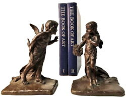 M.peinlich And Griffoul Foundry, American Aestheticism Bronze Bookends, Xx C.