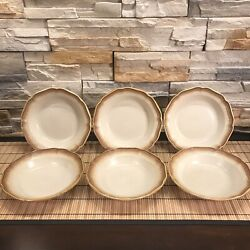 Mikasa Whole Wheat E8000 Soup Bowls Set Of 6, Oven To Table To Dishwasher, Japan