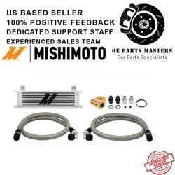Mishimoto Mmoc-ut - Fits Universal Thermostatic 10 Row Oil Cooler Kit, Silver