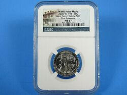 2020 W Quarters Weir Farms W Mint Mark Ngc Ms 67 First Releases