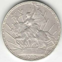 Mexico 1 Peso 1910 Horsewoman Antique Material Silver 0.900 Mint Regular Issue