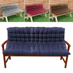 2/3 Seater Bench Swing Seat Cushion Backrest Garden Home Chair Furniture Pad Uk