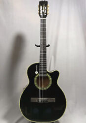 Used Mosrite Acoustic Electric Nylon String Guitar Black L.r.baggs Pickup W/ohsc