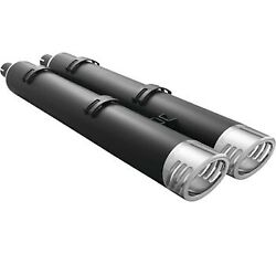 Freedom Performance Exhaust 4 Slip-on Black W/ Racing Tips Indian Touring