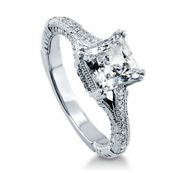 1.65 Ct Diamond Engagement Wedding Ring 925 Sterling Silver Rings Size 5 7 8 9