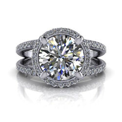 2.95 Ct Diamond Engagement Wedding Ring 925 Sterling Silver Rings Size 5 6 7 8 9