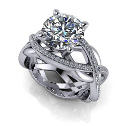 2.70 Ct Diamond Engagement Wedding Ring 925 Sterling Silver Rings Size 5 6 7 8 9