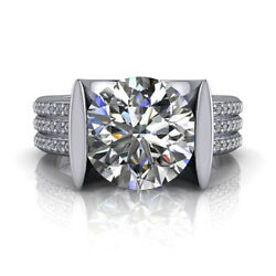 2.60 Ct Diamond Engagement Wedding Ring 925 Sterling Silver Rings Size 5 6.5 7 9