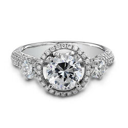 2.29 Ct Diamond Engagement Wedding Ring 925 Sterling Silver Rings Size 5 6.5 7 9