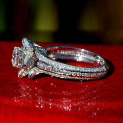 2.25 Ct Diamond Engagement Wedding Ring 925 Sterling Silver Rings Size 5 6.5 7 9