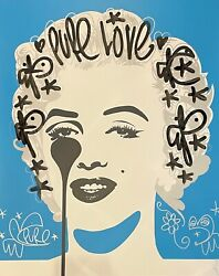 Pure Evil - 'classic Marilyn - Pure Love' Unique Hand-finished Print