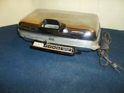 Htf Vintage General Electric Ge Waffle Iron Baker Grill Chrome 24g42- Works