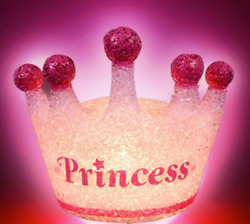 Sparkle Princess Lamp - 8 Inch Princess Crown-shaped Lamp With Sturdy Steel Base