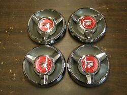 Nos Oem Ford 1968 Mercury Cougar Cyclone Wheel Cover Center Spinner Emblems Caps