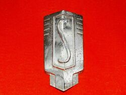 1939 Studebaker Commander Chrome Front Hood Grill Emblem Rare Part And Nice Core