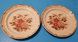 2 Sunmarc Endura Collection Stoneware Sy And Sm-6669 Festive Salad Plates 7.5