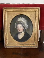 Circa 1780 English Oil On Canvas Portrait Of A Lady Attributed To John Russell