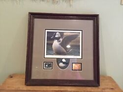 Ducks Unlimited Morning Stretch Signed Print 2005 Waterfoul Stamp G Lockwood