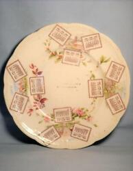 Vintage 1906 Calendar Plate - Bright And Clean - No Chips And No Cracks