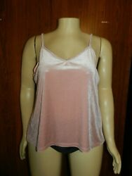 True By Rue21 Women's Top Plus Size 1x And 2x Velvet Rose Pink New With Tags