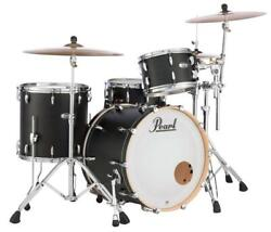 Pearl Masters Maple Complete 3-pc. Shell Pack Matte Black Mist Mct923xsp/c124