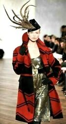 Collection Purple Label Fall 2008 Runway Red Black Dress Coat 12