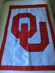 """Oklahoma Sooners Ou Garden And Yard Flag Double Sided Weather Resistant 28""""x44"""""""
