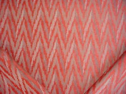 1-7/8y Colefax And Fowler Jane Churchill J907f Talia Red Ikat Upholstery Fabric