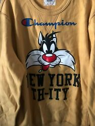 Rare Champion Todd Snyder Nyc Sweatshirt 'sylvester The Cat Nyc New