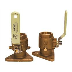 Groco Fbv-2000 2 Bronze Flanged Ball Valve Full Flow Ss Handle And Stem