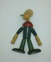 Antique Popeye Wood And String Jointed Toy 5.25