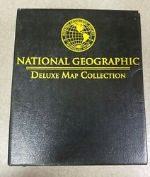 National Geographic Deluxe Map Collection Box Set 30 Full Color Maps - Very Good