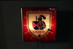 Vintage 1950's O'keefe Ale Beer Advertising Electric Square Wall Clock