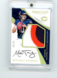 2017 Immaculate Collection Mitchell Trubisky Color Patch Autograph Rc /10 Rpa