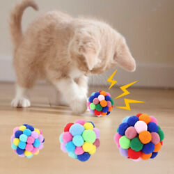 Set Of 3 Handmade Cat Cat Ball Toys Pet Catch Interactive Play Bite Chaser