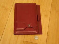 Rolex 70and039s Antique Leather Note Pad And Writing Paper