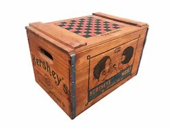 Vintage Hershey's Chocolate Kisses Wood Wooden Box Crate Lancaster Pa Soda